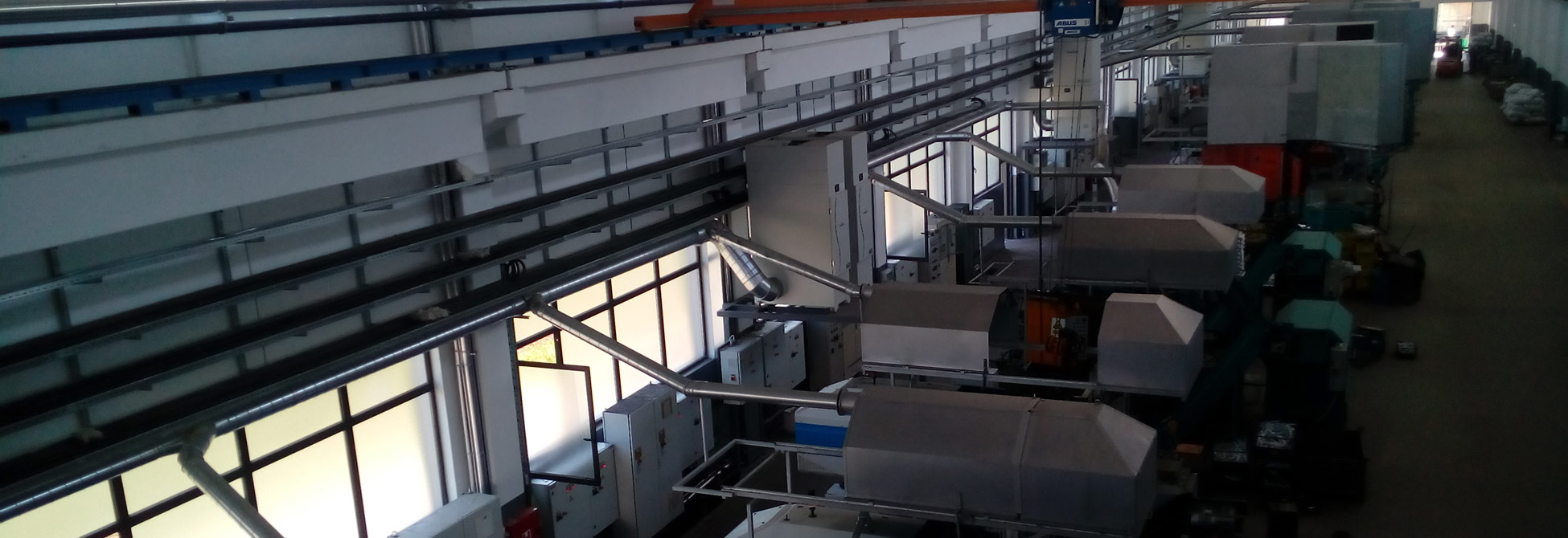 Ventilacioni sistem u fabrici